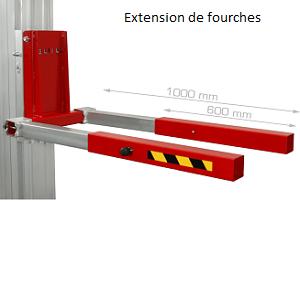 Adaptateur TORO extension fourches