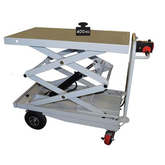 Plateforme motorisée à élévation électrique - chariot à ciseaux autotracté TM40