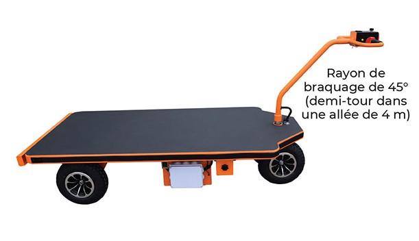 Plateforme motorisée - chariot autotracté PM 80