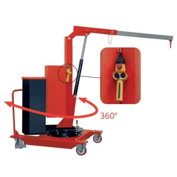 Grue d'atelier motorisée porte-à-faux rotative SCPE