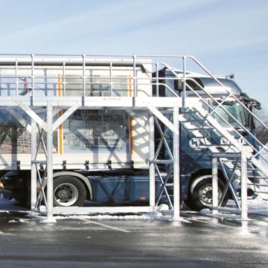 Passerelles fixes pour toit de camion