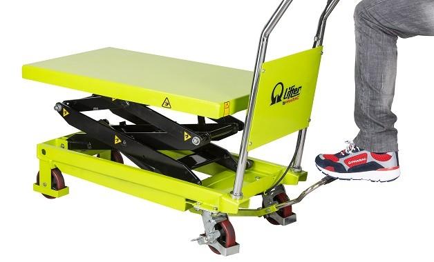 Table élévatrice manuelle roulante à double ciseaux PRAMAC LT35D