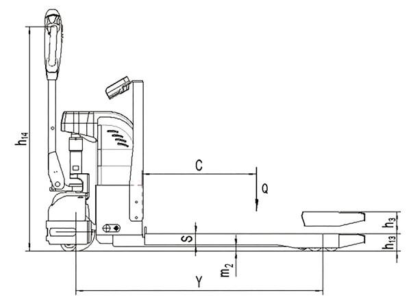 Transpalette électrique peseur SEPT15WC